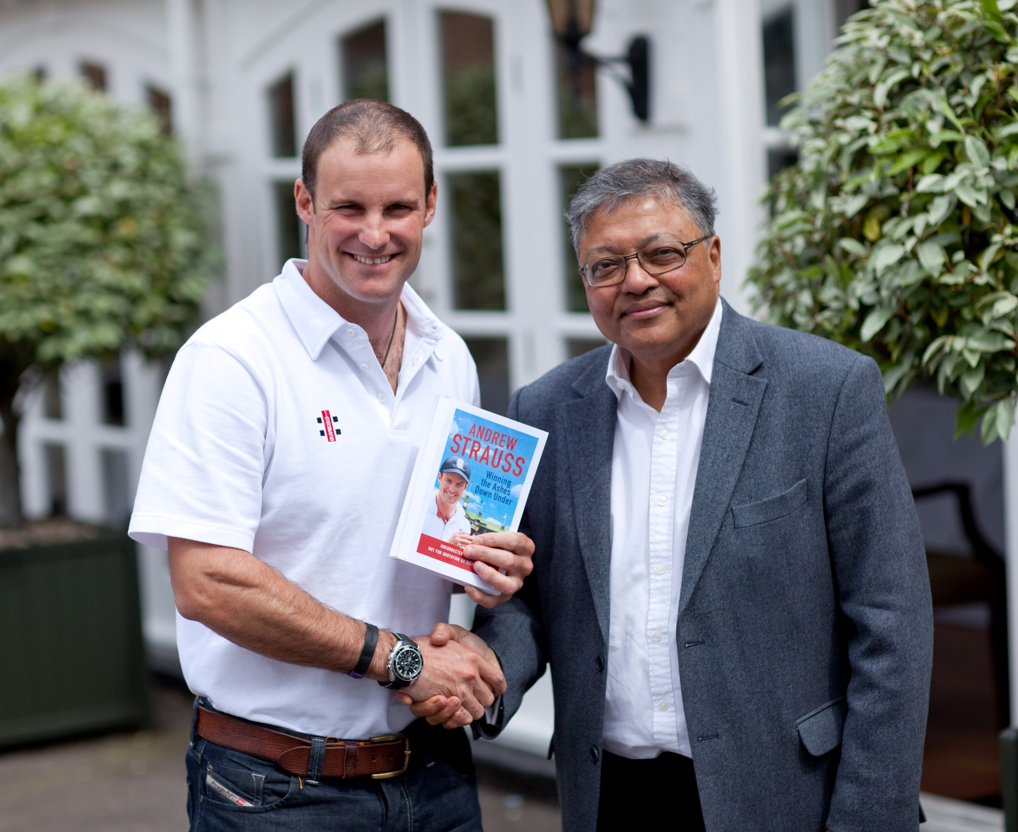 Mihir with Andrew Strauss