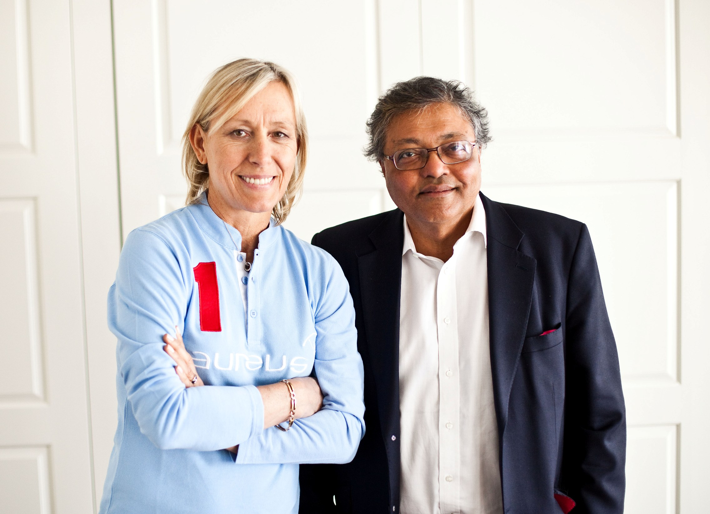 Mihir and Martina Navaratilova