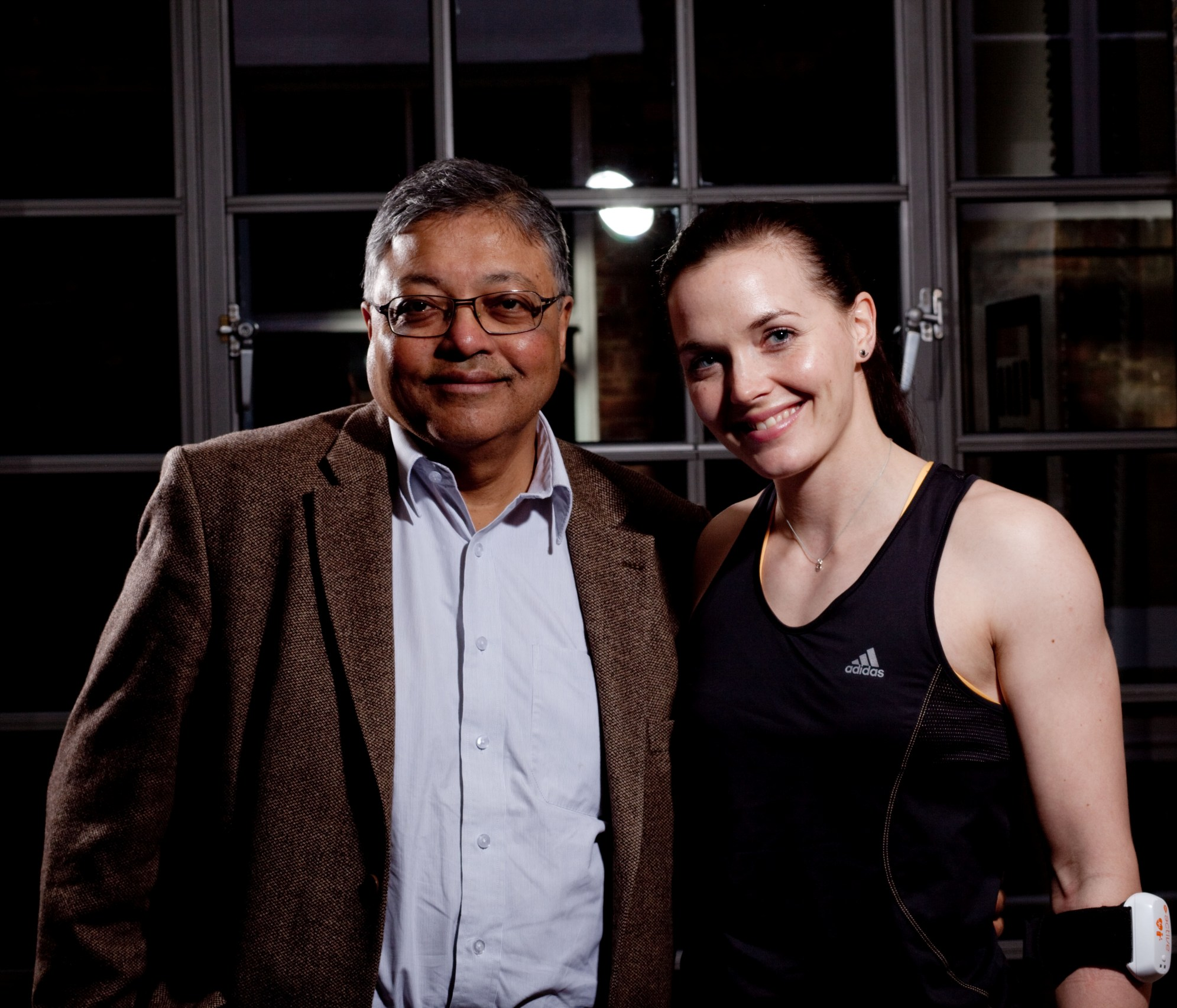 Mihir and Victoria Pendleton