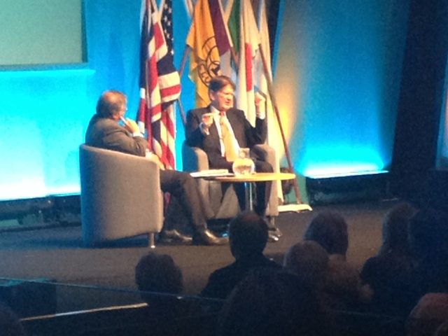Mihir Bose interviews Sir John Madejski OBE DL at the Rotary Clubs' Conference 2013